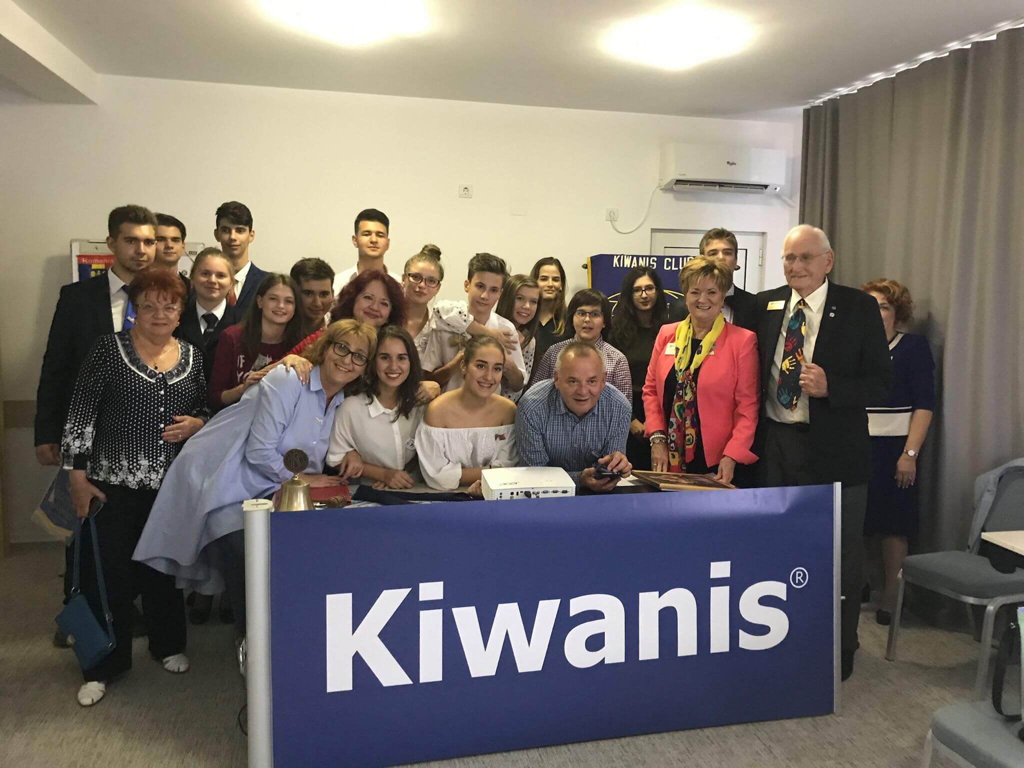 Poza de grup la Kiwanis Galati